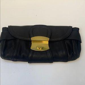 Kooba Black Leather Clutch